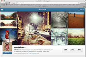 screenshot of instagram